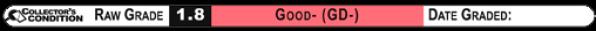 1.8 GOOD- (GD-): Raw Grade Label